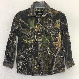 Boys Youth Bass Pro Shops Hunting Shirt size M